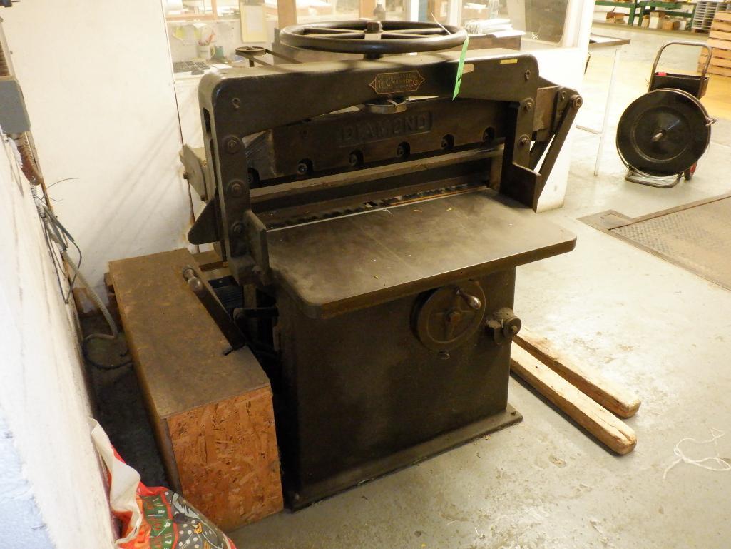"""Challenge 34.5"""" Diamond Paper Cutter, 36"""" (est.) Manual Back Gauge - Image 3 of 12"""