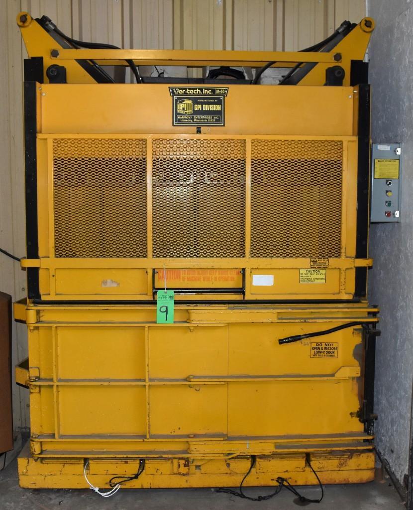 "GPI Ver-Tech 60"" x 30"" Model 60 Vertical Hydraulic Baler - Image 9 of 10"