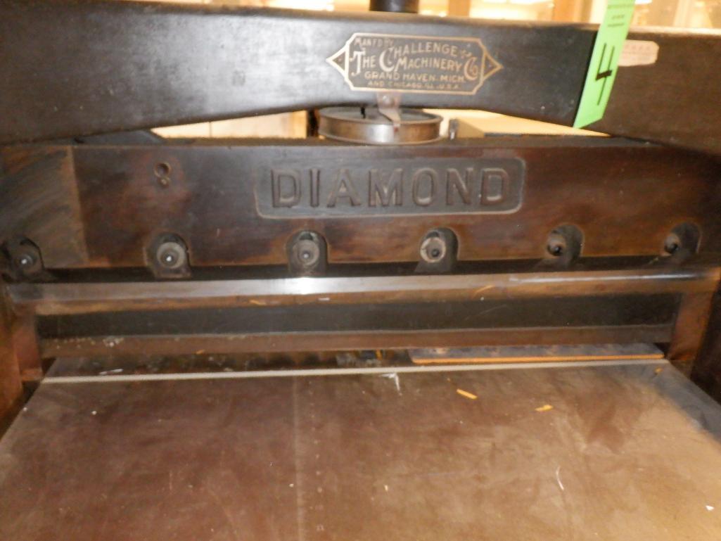 """Challenge 34.5"""" Diamond Paper Cutter, 36"""" (est.) Manual Back Gauge - Image 5 of 12"""