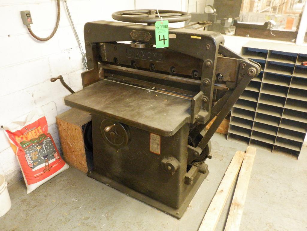 """Challenge 34.5"""" Diamond Paper Cutter, 36"""" (est.) Manual Back Gauge - Image 2 of 12"""