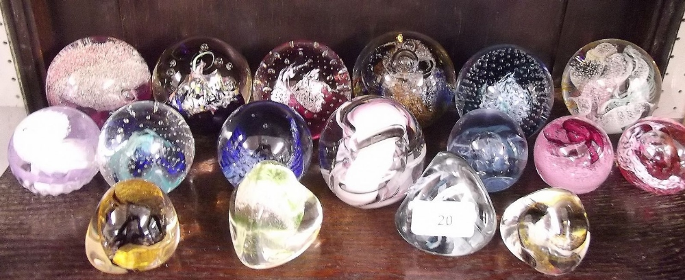 Lot 20 - A collection of seventeen Caithness paperweights