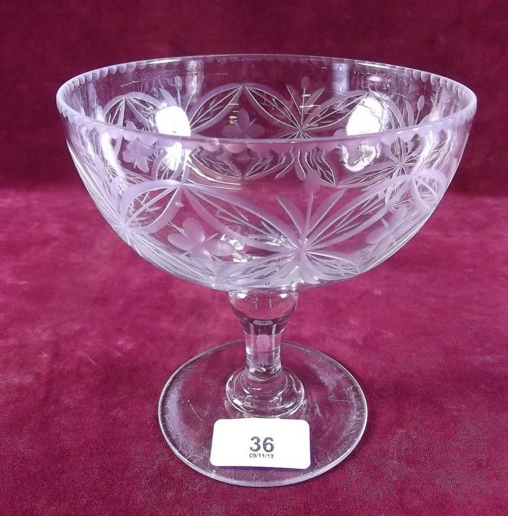 Lot 36 - A Victorian cut glass bowl 14cm tall
