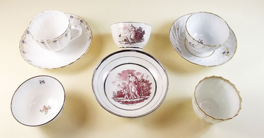 Lot 26 - A collection of Georgian tea wares including Derby and Worcester