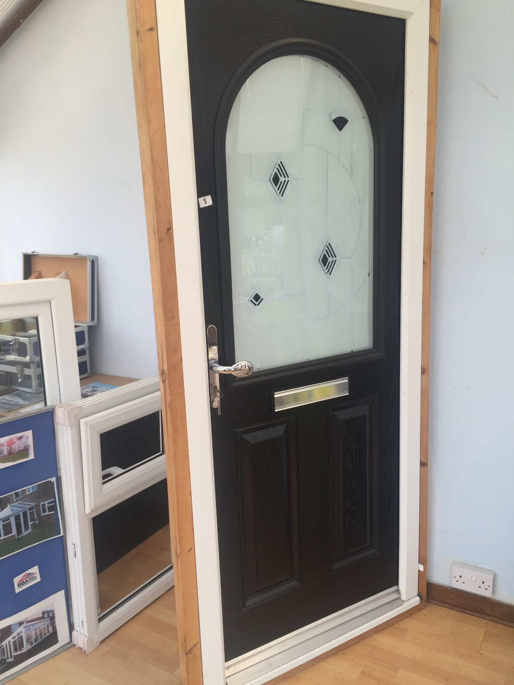 Double glazed door in frame 900x2100mm for Double glazed door and frame
