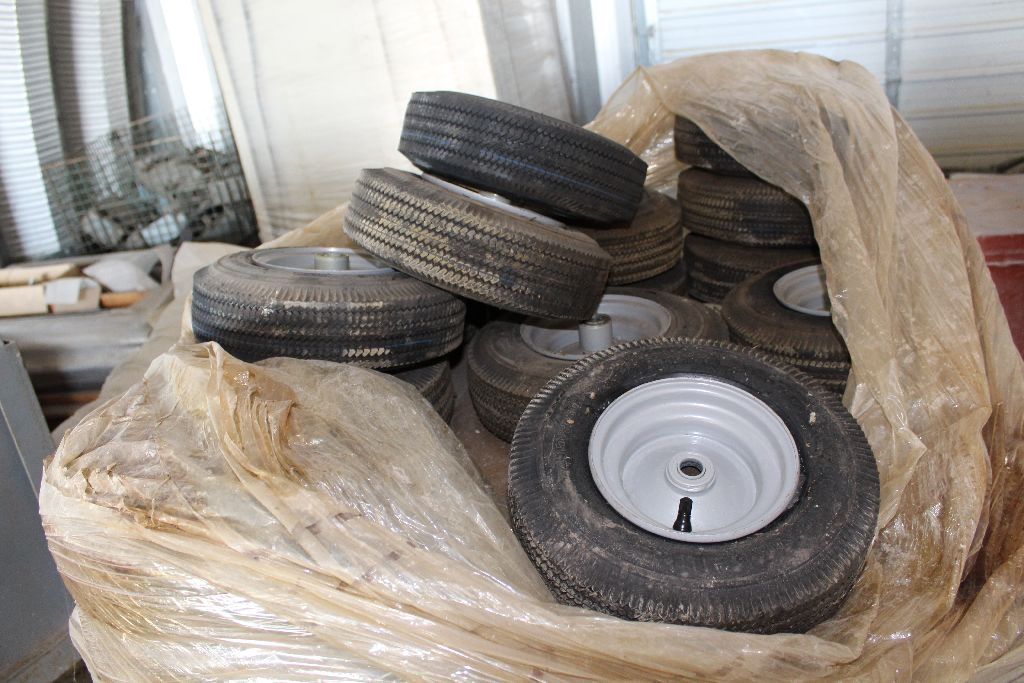 (2) Pallets rims/tires, 410/350. - Image 4 of 4