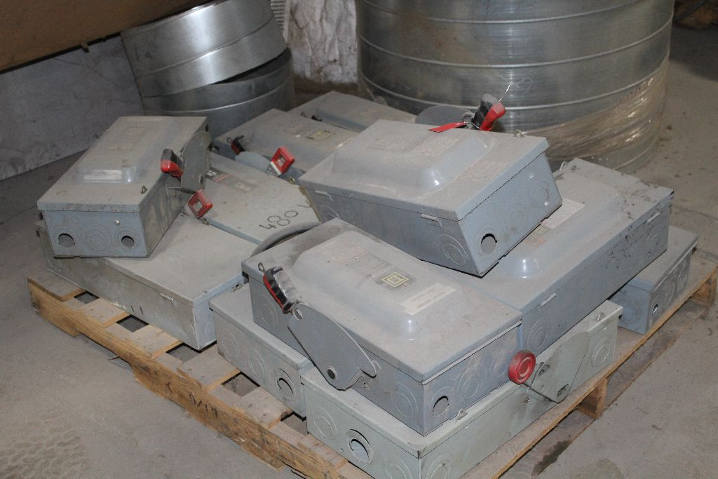(12) Square D control boxes, (used). - Image 2 of 2