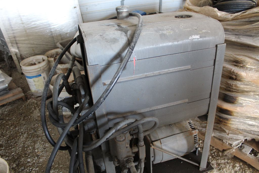 Hydraulic power unit, shopmade, grey. - Image 3 of 3
