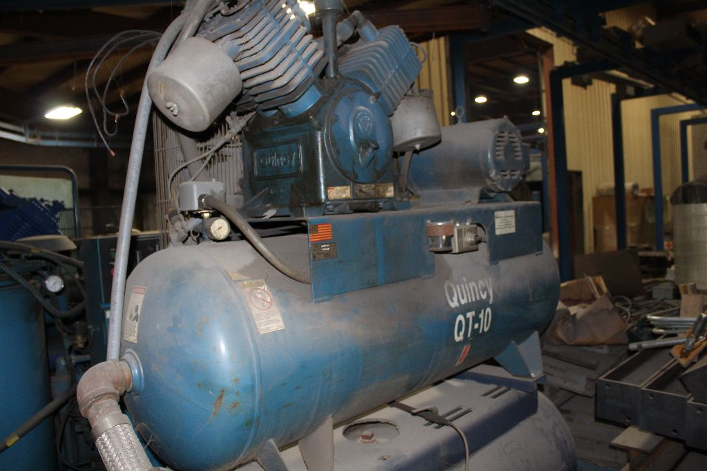 Quincy QT-15 air compressor, 15 hp., twin stack tanks, 2 cyl. - Image 5 of 6
