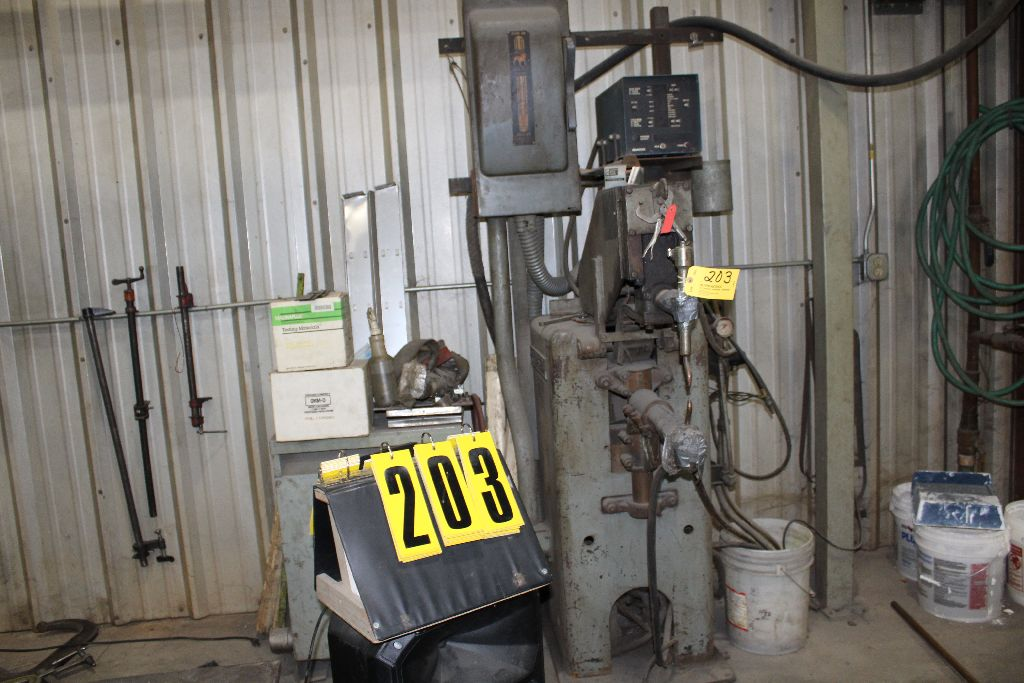 Thomson spot welder, model G-12, sn 15516, water cooled, updated controls.