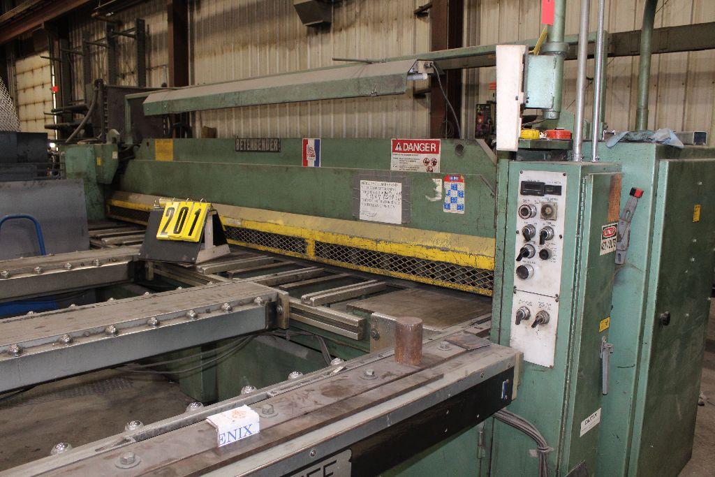 Betenbender shear 1/4-12, model 84, sn 129096, back gauge, std. front control, front control. - Image 3 of 11