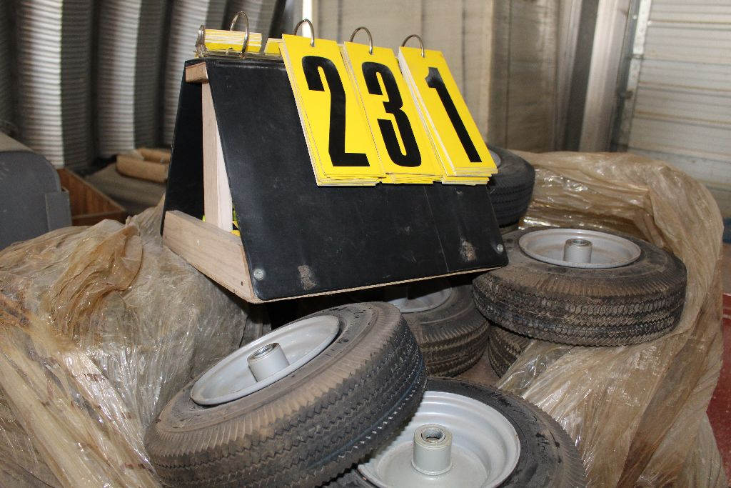 (2) Pallets rims/tires, 410/350. - Image 2 of 4