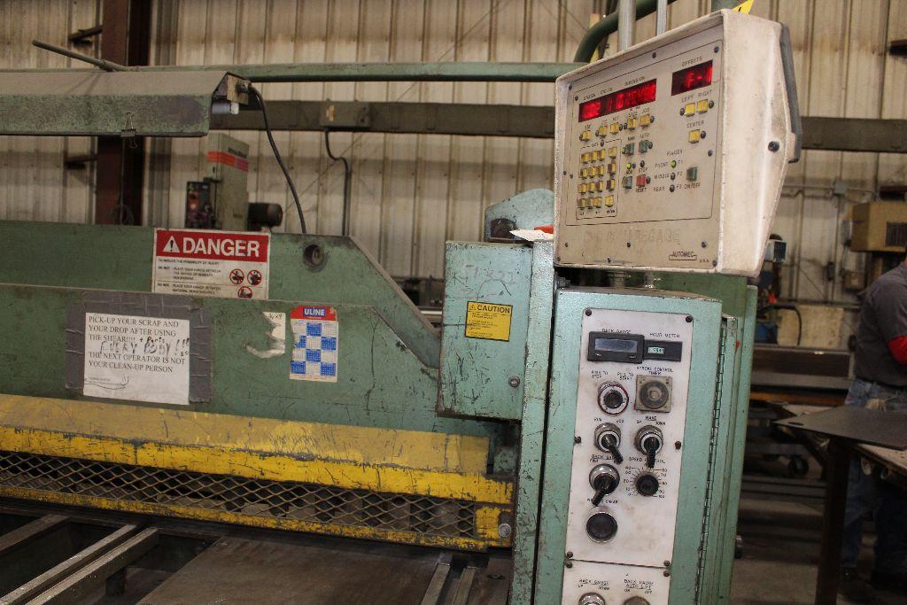 Betenbender shear 1/4-12, model 84, sn 129096, back gauge, std. front control, front control. - Image 7 of 11