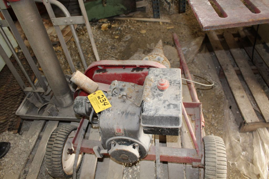 Gas power cork screw log splitter. - Image 2 of 4