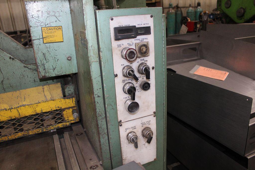Betenbender shear 1/4-12, model 84, sn 129096, back gauge, std. front control, front control. - Image 10 of 11