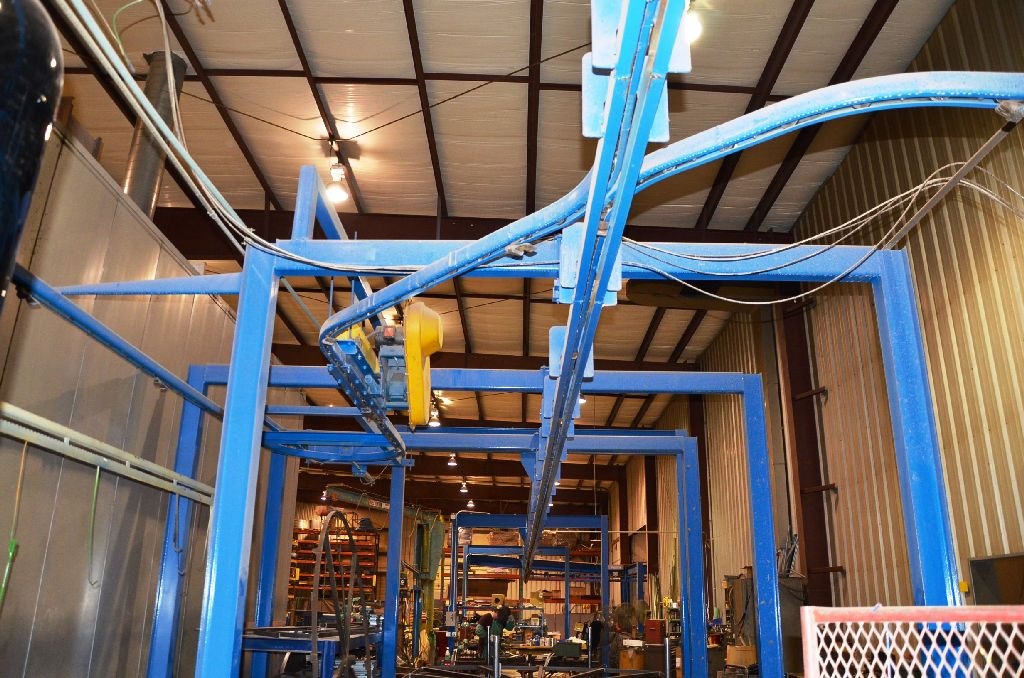 Conveyor System – Wash/Dry/Powder Line: Conveyor Model: Webb-Unibuilt Webballoy II 20200; 30 FPM