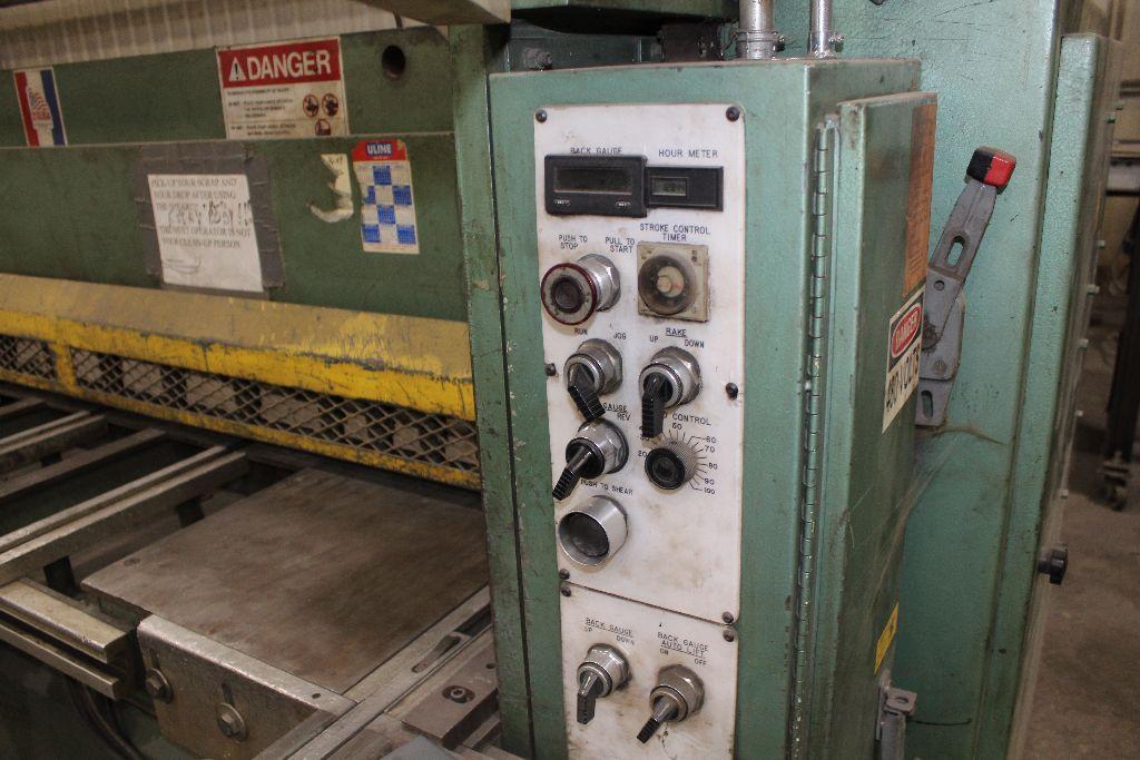 Betenbender shear 1/4-12, model 84, sn 129096, back gauge, std. front control, front control. - Image 4 of 11