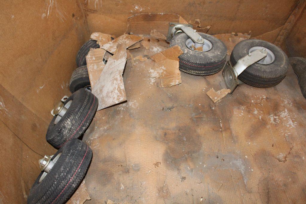 (2) Pallets rims/tires, 410/350. - Image 3 of 4