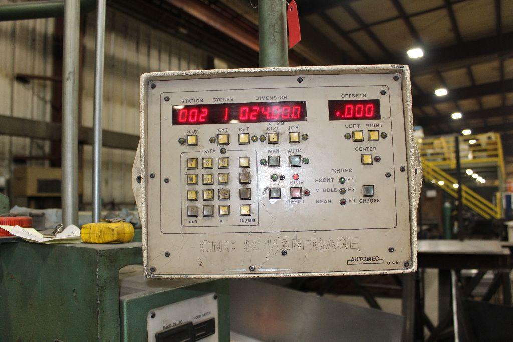 Betenbender shear 1/4-12, model 84, sn 129096, back gauge, std. front control, front control. - Image 9 of 11