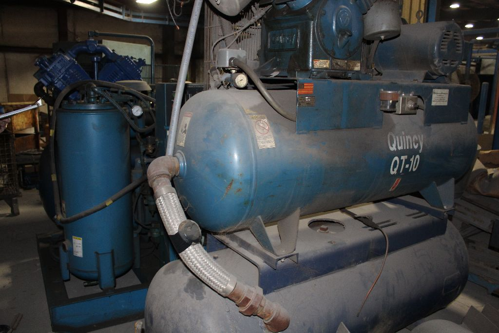 Quincy QT-15 air compressor, 15 hp., twin stack tanks, 2 cyl. - Image 6 of 6