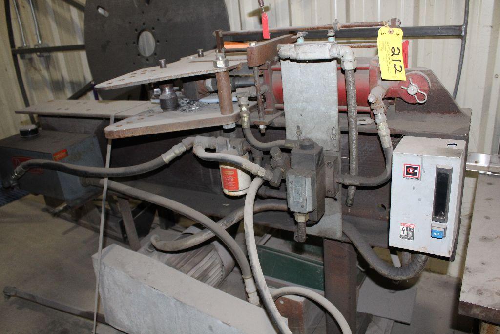 Bender shopmade, 7.5 hp, hydraulic.