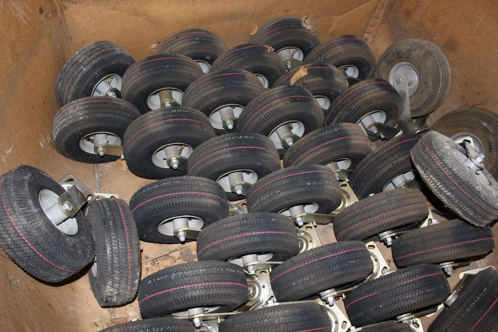 (2) Pallets rims/tires, 410/350.