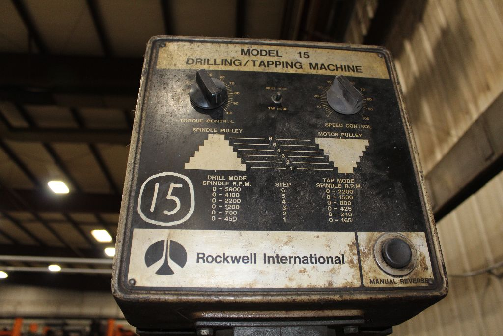 Rockwell drill / tapping machine, model 15-201, sn 1716430. - Image 2 of 4