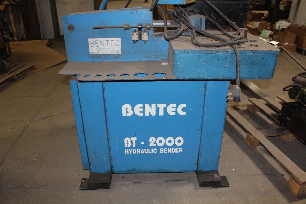 Bentec hydraulic bender, model BT2000, sn 1069, 240 V, 3 phase. - Image 4 of 5