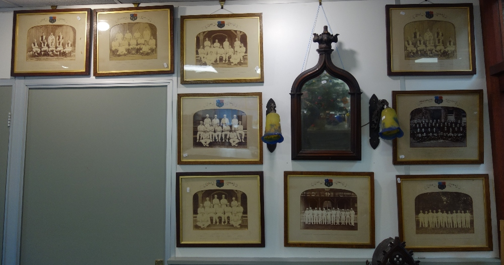Lot 14 - A LARGE COLLECTION OF EDWARDIAN PHOTOGRAPHS OF CRICKET AND FOOTBALL TEAMS, to include 'Eton Eleven