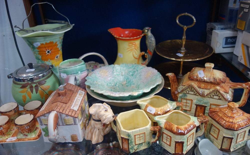 Lot 54 - A COLLECTION OF COTTAGE WARE and mixed ceramics