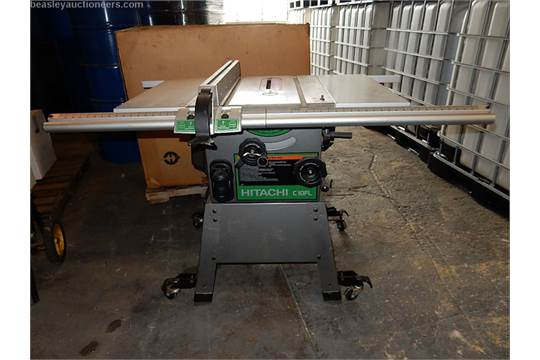 Hitachi table saw model c10fl rolling stand 3hp motor 10 blade previous greentooth Images