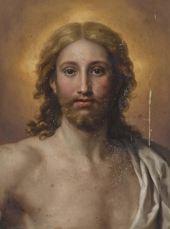 Auktionslos 235 - Mengs, Anton Raphael 1728 Aussig / Böhmen - 1779 Rom  Salvator Mundi  Rücks. bezeichnet und