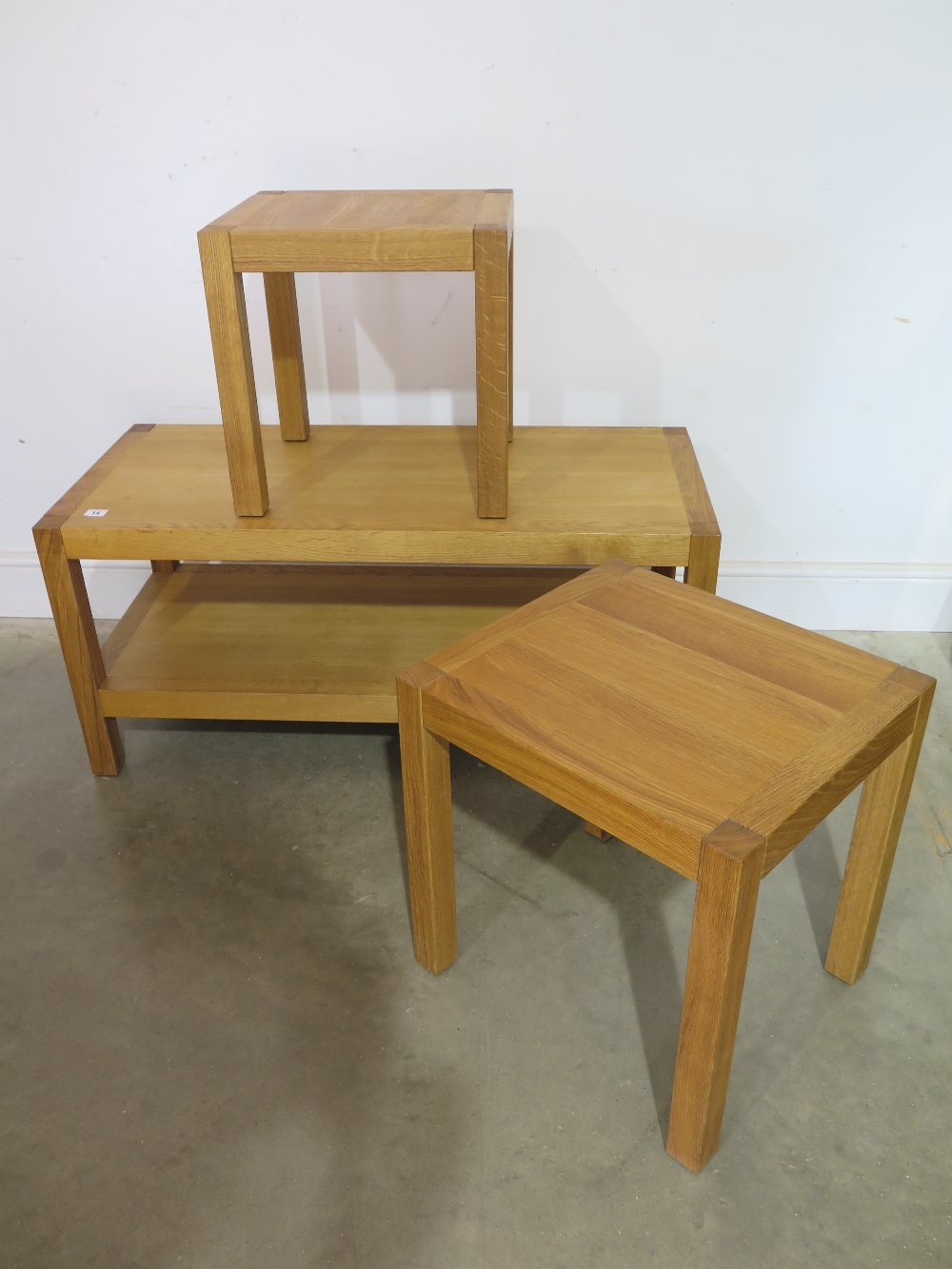Two laura ashley pre owned brompton oak side tables and a for Coffee tables laura ashley