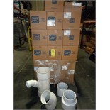 """LOT OF PVC PIPE FITTINGS: 10"""" RED COMBO-Y & 1/8"""" BEND SOC S40 N.P.R.  LOCATED IN HOUSTON, TX"""