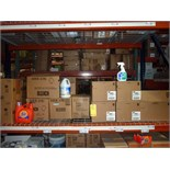LOT OF CLEANING SUPPLIES: Tide detergent, bleach, 409 cleaner  LOCATED IN HOUSTON, TX
