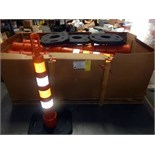 LOT OF BUFFER ZONE SAFETY CONES (approx. 50), w/bases  LOCATED IN HOUSTON, TX