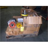 LOT OF VALVES, LEADS, VALVE REPLACEMENT RINGS, HI-TEMP NEOPRENE PISTONS, assorted  LOCATED IN
