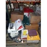 LOT OF SAFETY EQUIPMENT: glasses, winter hard hat liners, safety cables, tool lanyards, safety chain