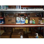 LOT OF CLEANING SUPPLIES: Windex, Clorox toilet cleaner, Clorox spray bottles  LOCATED IN HOUSTON,