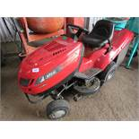 EFCO HYDRO RIDE ON MOWER WITH COLLECTOR, WHEN TESTED WAS SEEN TO RUN BUT NOT DRIVE, THEREFORE SOLD