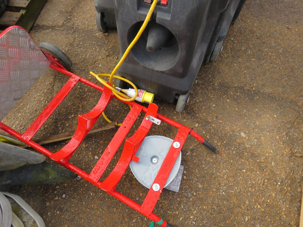 7no. Radiant heaters plus 110v fire bell trolley - Image 2 of 3