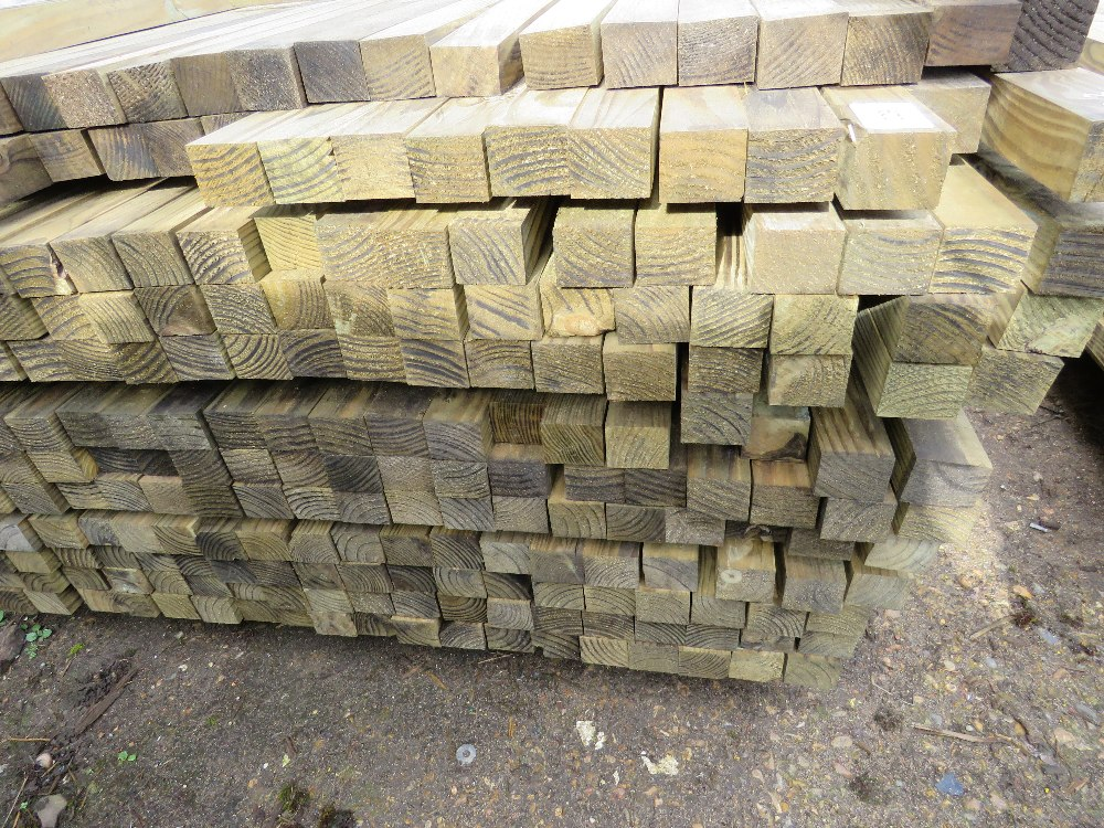 Large pack of timber posts, approx. 250no. in total, 50mmx 55mm - Image 2 of 3