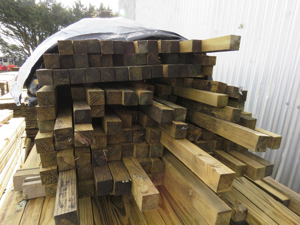 2no. Large packs of timber posts - Image 2 of 3