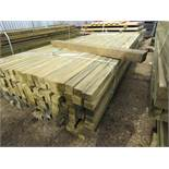 Large pack of timber posts, approx. 210no. in total, 45mmx55mm