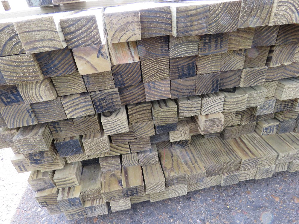 Pack of 2.7m length timber posts, 55mm x 45mm approx. 220no. approx in total - Image 2 of 2
