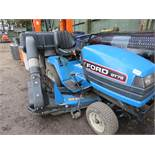 Ford GT72 2wd diesel ride on mower c/w collector