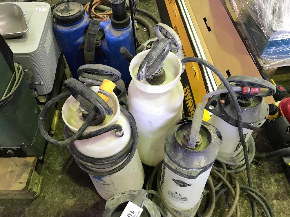 Back pack sprayer plus 7no. wet cut bottles - Image 2 of 2