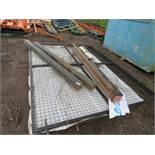 Mesh covered hinged yard gate c/w posts for 6m opening approx. x 2.4m height