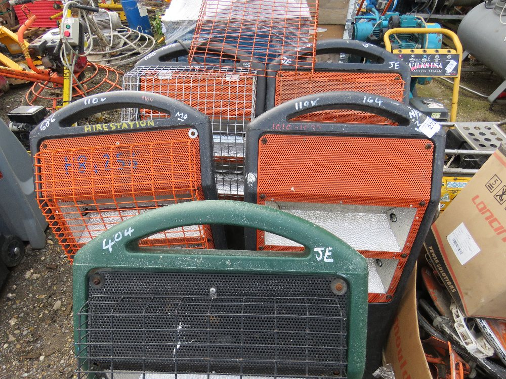 5no. Industrial radiant heaters