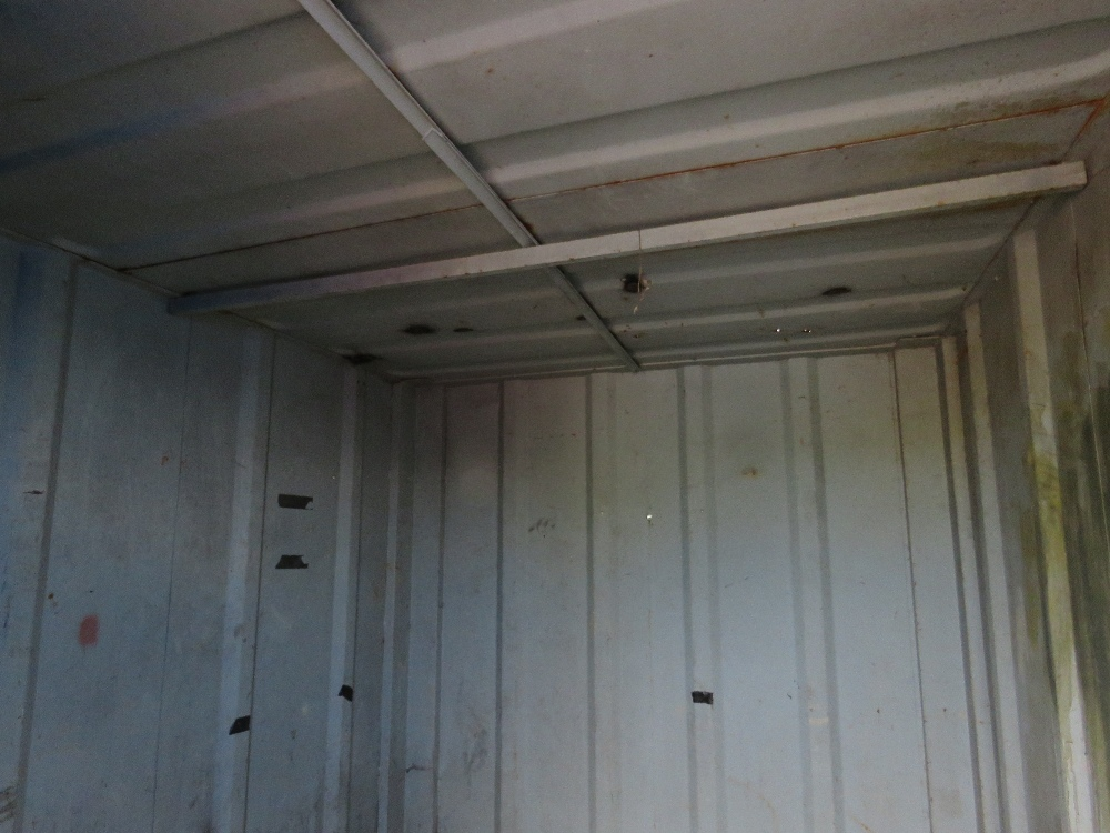 SECURE STEEL CONTAINER WITH KEYS 10FTX8FT APPROX. - Image 3 of 4