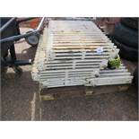 5no. Cast iron radiators